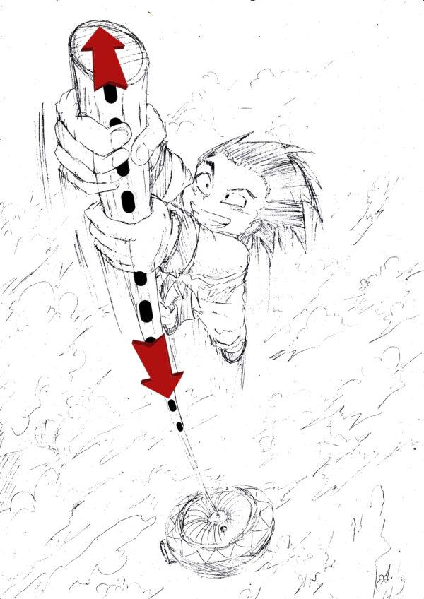 goku y su baston